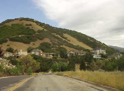More hillside homes in Ogden just 1-2 miles southeast of WSU.
