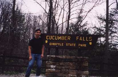 Cucumber Falls is where I start my backpacking trip through the Ohiopyle State Park in PA.