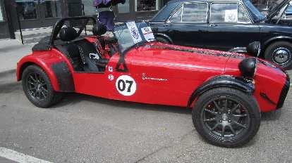 red Caterham 7