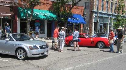 silver 2001 Audi TT Roadster Quattro, red Ferrari GTO