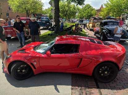 A red Lotus Elise.