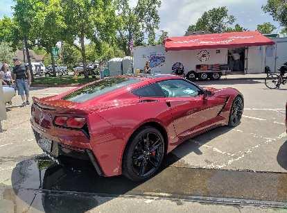 red C7 Chevrolet Corvette