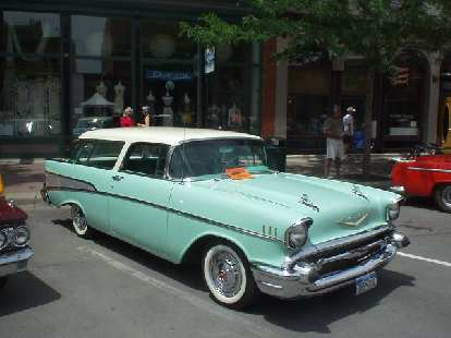 The bright pastel colors seem to only work well with 50s American cars, like this one.