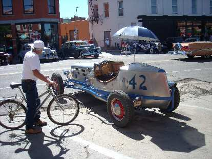 Old race car... not sure of the year.