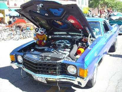 A Chevrolet El Camino with a Mighty Mouse theme.