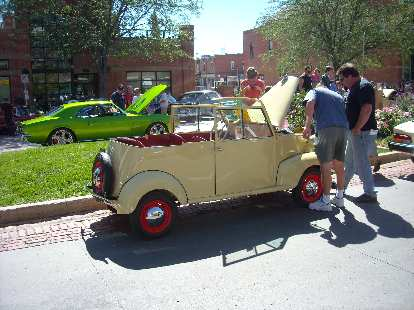A 1941 Crosley Convertible Sedan.