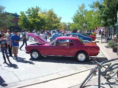 A 1965 Mustang.