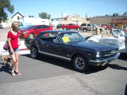 A 1964-1/2 Ford Mustang.