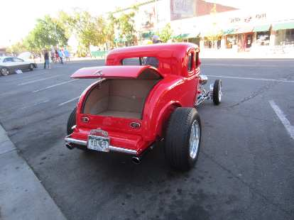 """The plates read """"Milner.""""  Must be a reference to John Milner's hot rod in American Graffiti that looked just like this, just in yellow!"""