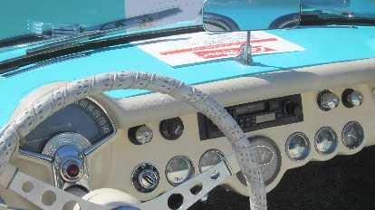 The interior of a C1 Corvette.