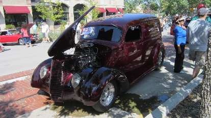 A modern-day Chrysler PT Cruiser looks a lot like this 1937 Ford Delivery Sedan!