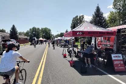 Mobile bike shop services were available along the Open Streets route.