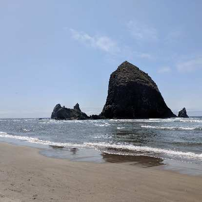 Haystack Rock in Cannon Beach, Oregon.