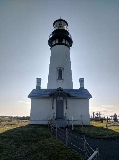 Yaquina Head Lighthouse, the tallest lightouse in Oregon.