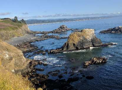 The Oregon coast south of Yaquina Head Outstanding Natural Area.