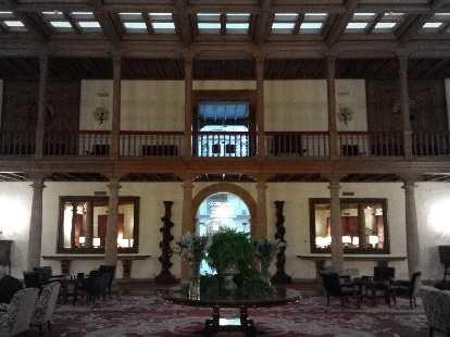 The inside of Eurostars Hotel de la Reconquista, which was the hotel featured in the movie Vicky Cristina Barcelona.