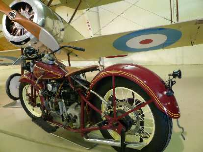 A 1931 Henderson and a 1916 Sopwith Pup (that the German Red Baron considered superior to his own plane).