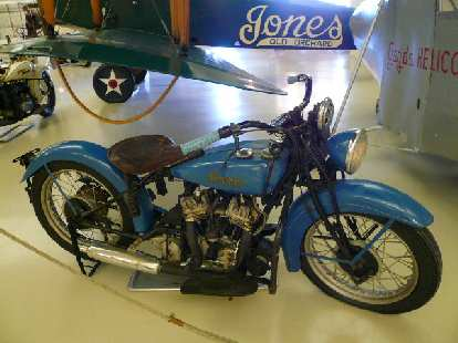 An Indian, the first American-made motorcycle (beating Harley-Davidson by a couple years).