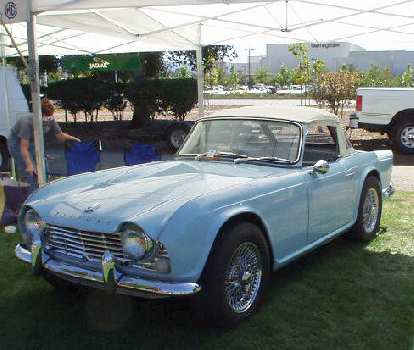 A TR4, one of my favorite Triumphs.