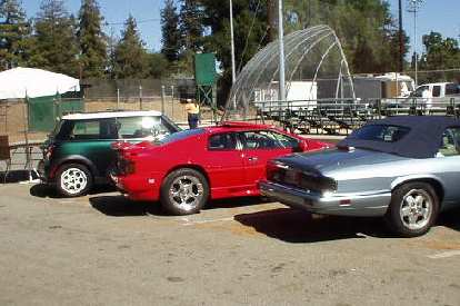 Even in the parking lot (not on display) were interesting cars, including the new Mini, a Lotus Esprit, and a Jaguar XJS convertible.