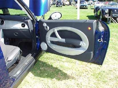 The door panel of the Mini.  Very stylish!