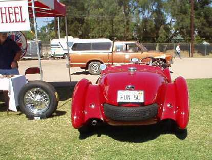 If you can identify this vehicle, can you tell me what it is?  That's neat how the spare tire also serves as a bumper!