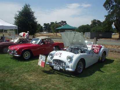 Triumph TR4 and TR3.