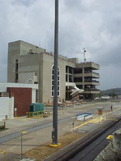 A museum/overlook at the Miraflores locks.