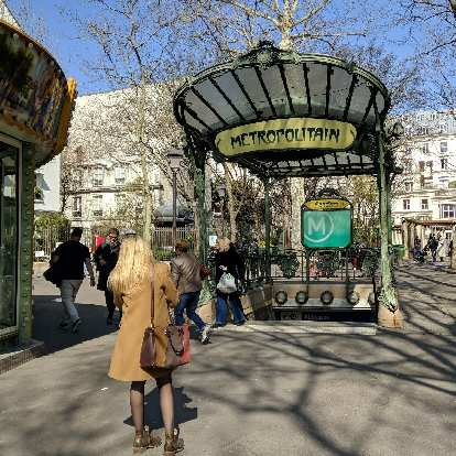The Abbesses Metro station near the Sacre Coeur had an Art Nouveau entrance.