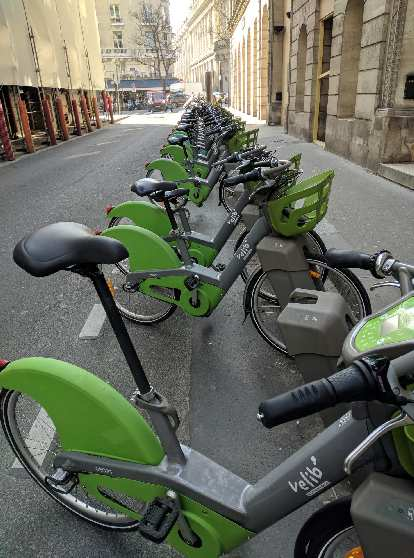 The Velib city share bicycles in Paris were different from the ones that I last saw in 2013.