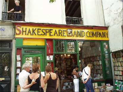The Shakespeare & Company Bookstore was opened by American Sylvia Beach in the 1920s and is an all-English bookstore.  It attracted the literary elite like Ernest Hemingway.