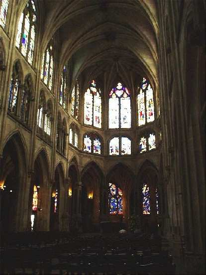 I spent half an hour of peace and solitude inside the church of St. Severin, which (with its exquisite glass work) took a century longer than the Notre Dame to build!