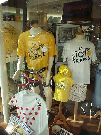 Down from the Louvre was Tour de France memorabilia, which I was heartened to see considering that I was about to do Paris-Brest-Paris just a few days later!
