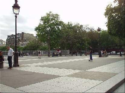 Skateboarders in Paris.