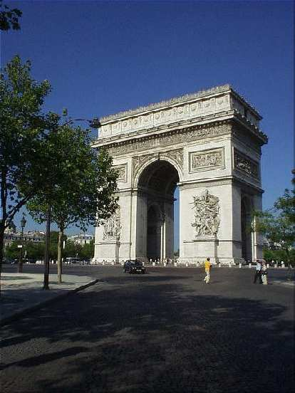 The Arc de Triumph, where I stayed in a nice hotel just a couple of blocks away during my last days in Paris..