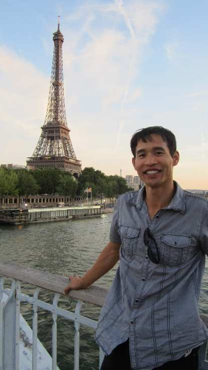 Felix Wong and the Eiffel Tower.