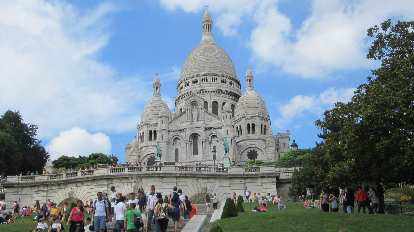 The Sacre Coeur in Montmartre.