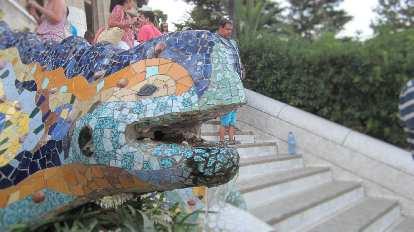 Basking lizard at Parc G