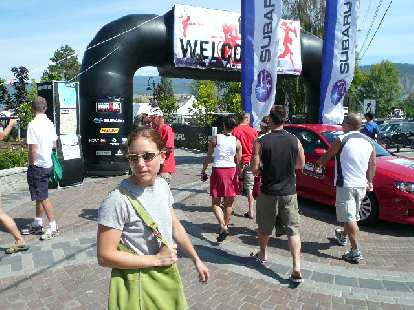 Of course, Lisa came to participate in Ironman Canada!