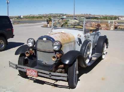 An antique car.