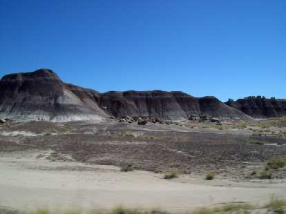This shot of the Petrified Forest reminded me of the Bandlands of South Dakota.