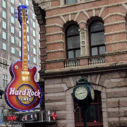 The Hard Rock Café in central Philadelphia.
