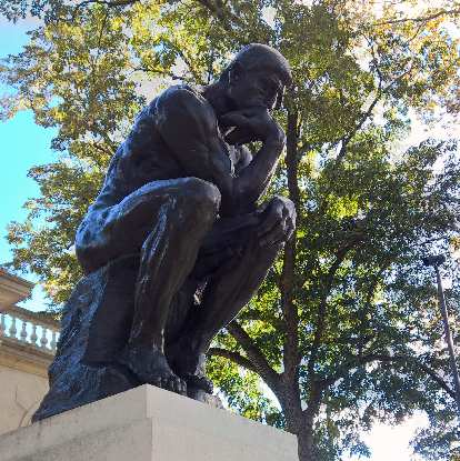"""The Thinker"" outside the Rodin Museum."