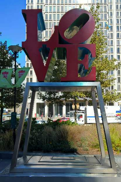The Love Exhibit at Dilworth Park.