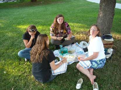 Ann was also picnicking just 15 feet away with three young pre-vets she was mentoring.
