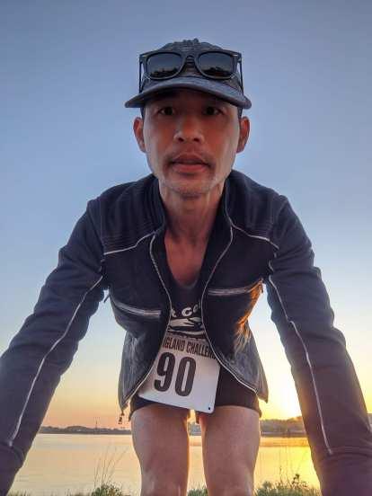 Felix Wong before the start of the 2021 Pine Tree Marathon.
