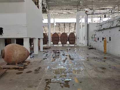 Tourist area of the Tacama winery.