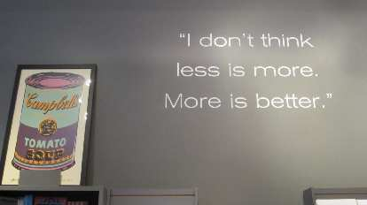 """Inside the Andy Warhol Museum: """"I don't think less is more. More is better."""""""