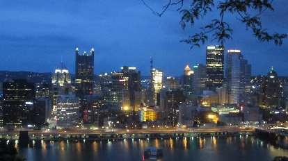 Downtown Pittsburgh as viewed from Grandview Avenue.