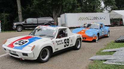 Two Porsche 914s.